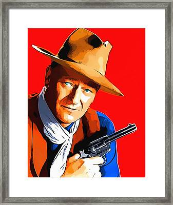 John Wayne In Rio Bravo Framed Print by Art Cinema Gallery