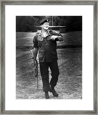 John Wayne In The Green Berets  Framed Print by Silver Screen