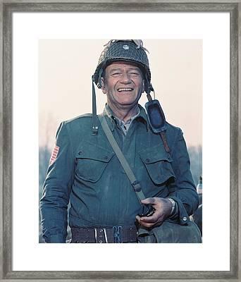 John Wayne In The Longest Day Framed Print by Silver Screen