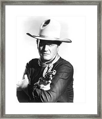 John Wayne In The Man Who Shot Liberty Valance Framed Print by Silver Screen