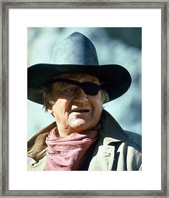 John Wayne In True Grit  Framed Print by Silver Screen