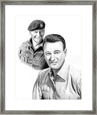 John Wayne Framed Print by Peter Piatt