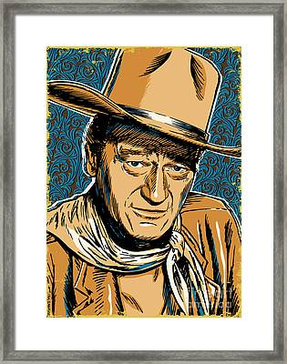 John Wayne Pop Art Framed Print by Jim Zahniser