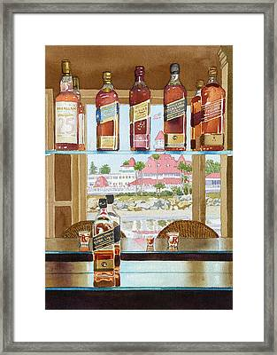 Johnnie Walker And Del Framed Print by Mary Helmreich