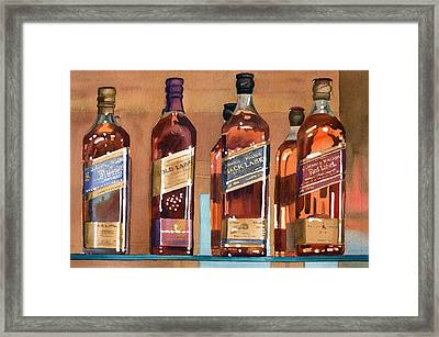 Johnnie Walker Framed Print by Mary Helmreich