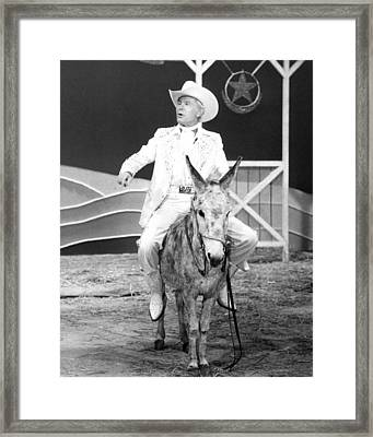 Johnny Carson In The Tonight Show Starring Johnny Carson  Framed Print by Silver Screen