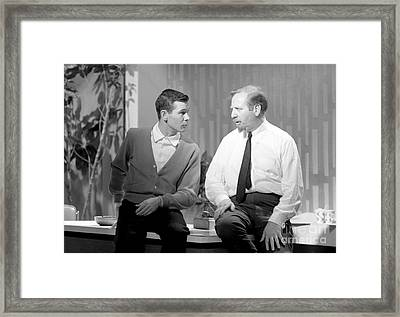 Johnny Carson With Skitch Henderson Framed Print by The Harrington Collection