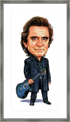 Johnny Cash Framed Print by Art