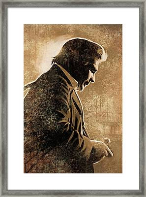 Johnny Cash Artwork Framed Print by Sheraz A
