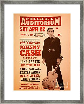 Johnny Cash Framed Print by Bob Hislop