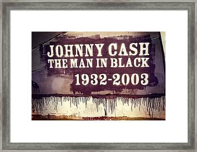 Johnny Cash Memorial Framed Print by Dan Sproul