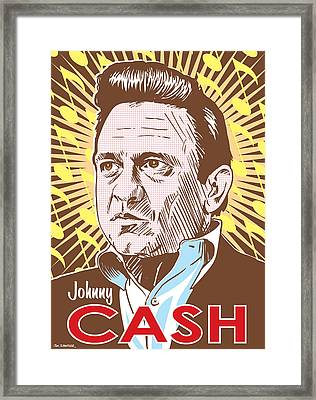Johnny Cash Pop Art Framed Print by Jim Zahniser