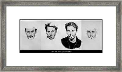 Johnny Depp 4 Framed Print by Andrew Read