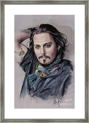 Johnny Depp Framed Print by Melanie D
