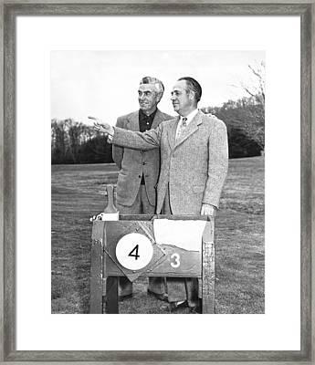 Johnny Farrell & Robert Jones Framed Print by Underwood Archives