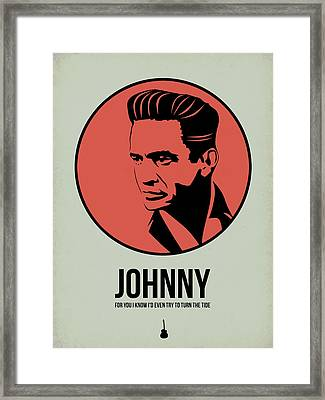Johnny Poster 2 Framed Print by Naxart Studio