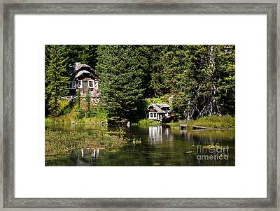 Johnny Sack Cabin Framed Print by Robert Bales