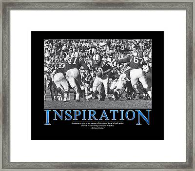 Johnny Unitas Inspiration  Framed Print by Retro Images Archive