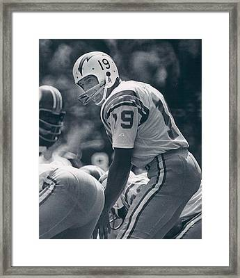 Johnny Unitas Poster Framed Print by Gianfranco Weiss