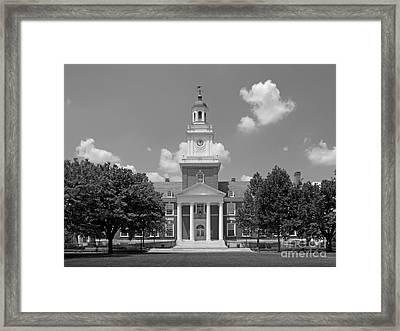 Johns Hopkins Gilman Hall Framed Print by University Icons