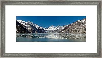 Johns Hopkins Glacier In Glacier Bay Framed Print by Panoramic Images