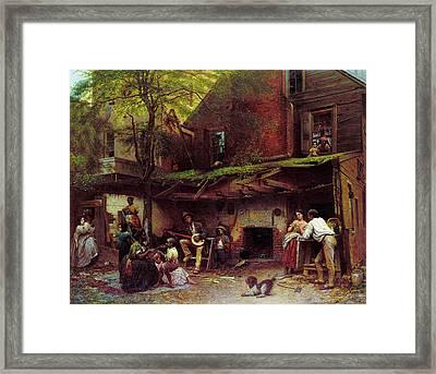 Johnson Old Kentucky Home Framed Print by Granger