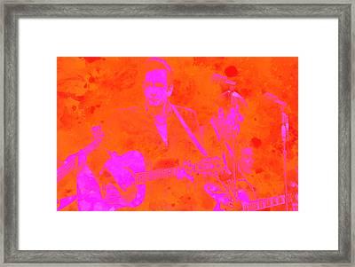 Johny Cash 3 Framed Print by Brian Reaves