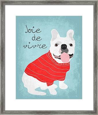 Joie De Vivre French Bulldog  Framed Print by Ginger Oliphant