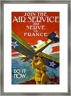 Join The Air Service, 1917 Framed Print by J. Paul Verrees