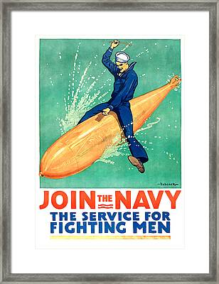 Join The Navy Framed Print by Gary Bodnar