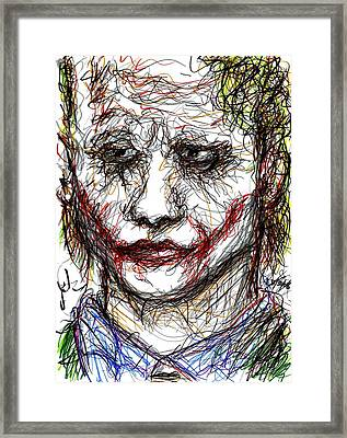 Joker - Interrogation Framed Print by Rachel Scott