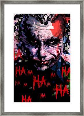 Joker Framed Print by Jeremy Scott