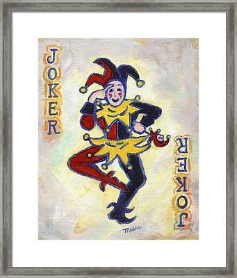 Joker Framed Print by Linda Mears