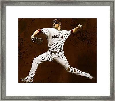 Jon Lester Former Boston Red Sox Framed Print by Dennis Wickerink