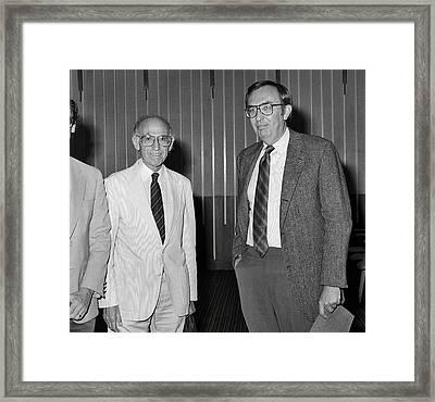 Jonas Salk And Frederick Murphy Framed Print by Cdc