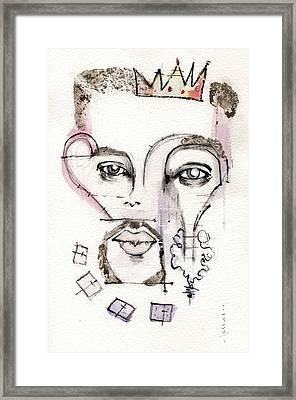 Jonathan Rhys Myers As King Henry The Eighth Framed Print by Mark M  Mellon