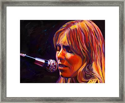 Joni Mitchell..legend Framed Print by Vel Verrept