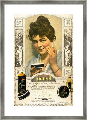 Jonteel 1900s Usa Face Cream Framed Print by The Advertising Archives