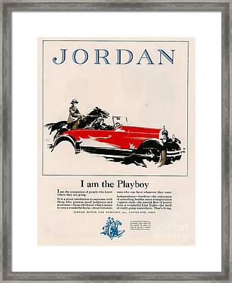 Jordan 1926 1920s Usa Cc Cars Horses Framed Print by The Advertising Archives