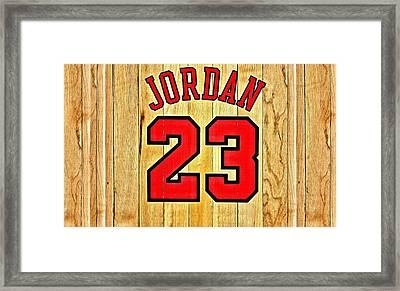 Jordan 23 Poster Framed Print by Florian Rodarte