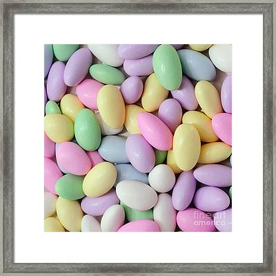Jordan Almonds - Weddings - Candy Shop - Square Framed Print by Andee Design