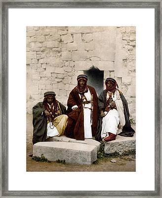 Jordan Bedouins, C1895 Framed Print by Granger