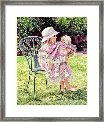 Jordan Foster - Garden Girl Framed Print by David Lloyd Glover