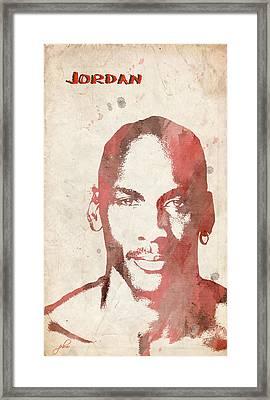 Jordan Framed Print by Paulette B Wright
