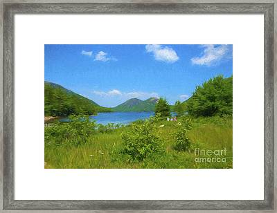 Jordan Pond Acadia National Park Framed Print by Diane Diederich