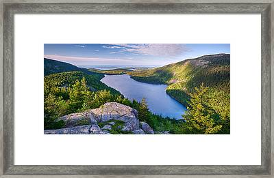 Jordan Pond From The North Bubble Framed Print by Panoramic Images