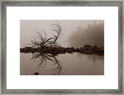Jordan Pond Framed Print by Karma Boyer