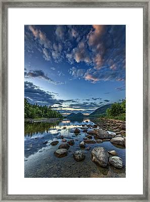 Jordan Pond Framed Print by Rick Berk