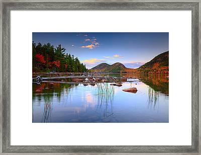 Jordan Pond In Fall Framed Print by Emmanuel Panagiotakis