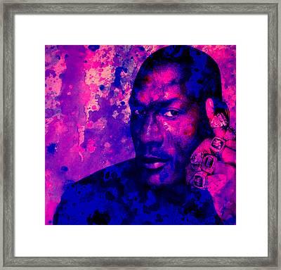Jordan Six Rings Framed Print by Brian Reaves